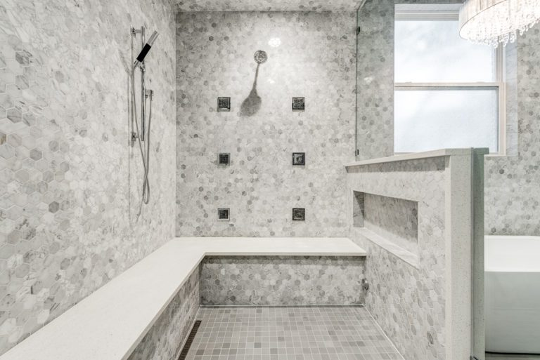 Steam shower and spa by NOMI bathroom remodel
