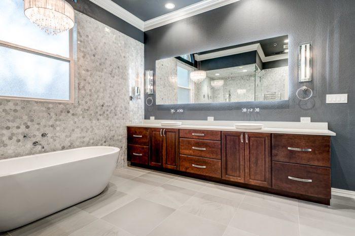 www.remodel-dallas.com Joseph&Berry luxury remodeling and luxury custom home in dallas Tx marble hexagon tiles bathroom bathroom remodeling dallas, best remodeling company dallas, large bathroom, large shower, modern bathroom design