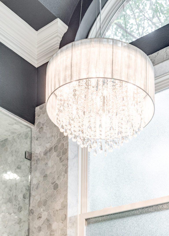 www.remodel-dallas.com Joseph & Berry luxury remodeling and luxury custom home in dallas Tx marble hexagon tiles bathroom remodeling dallas, best remodeling company dallas, large bathroom, large shower, modern bathroom design chandelier in bathroom