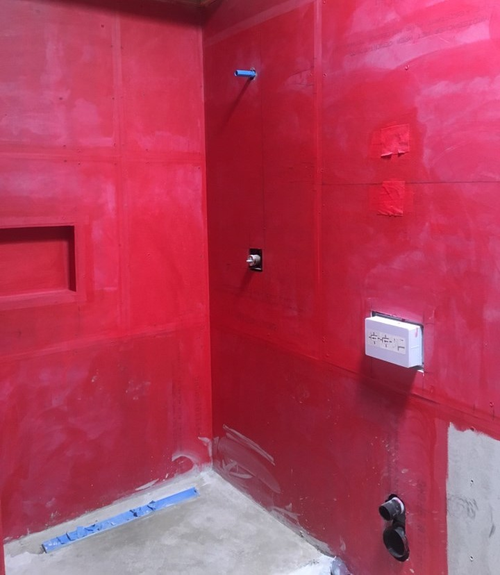Hydro guard waterproofing membrane NOMI luxury bathroom remodeling